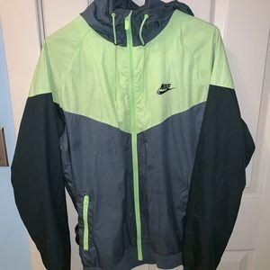 Nike men's windbreaker size large. Lime green/Grey